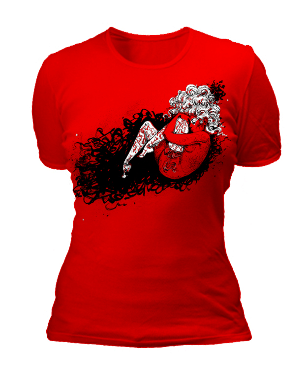 RED womens shirt