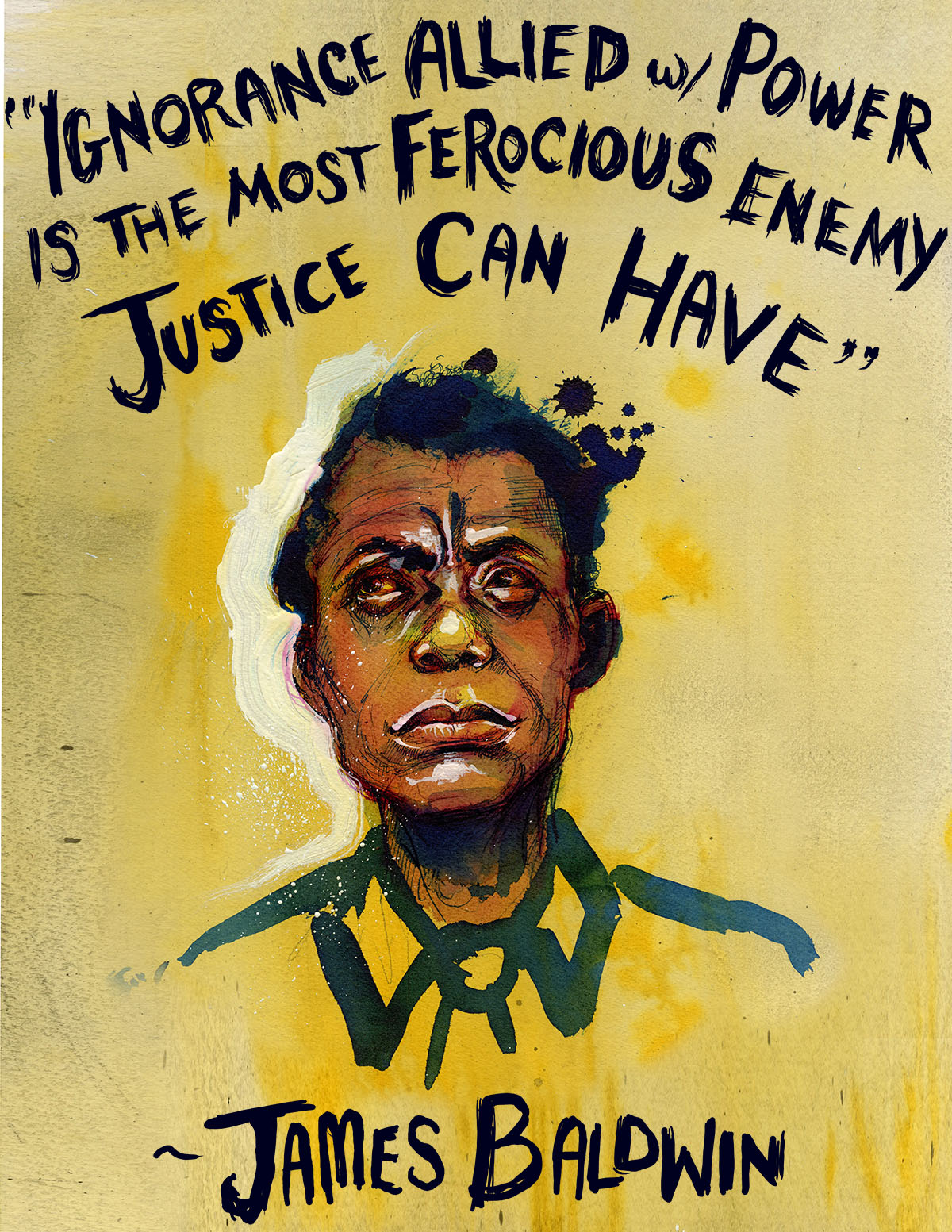 James Baldwin - The Art of Molly Crabapple